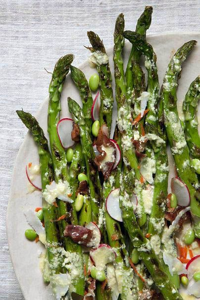 Grilled Asparagus Salad with Lemon-Parmesan Vinaigrette