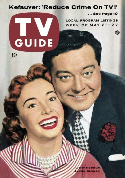 TV Guide May 21, 1955 - Jackie Gleason and Audrey Meadows of The Honeymooners.