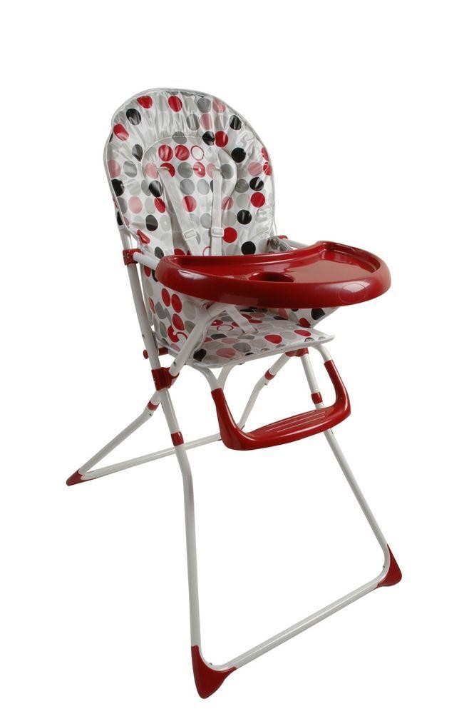 King Bear baby-stoel met tafel en bekerhouder bedrukt met rode ronde bollen. | eBay