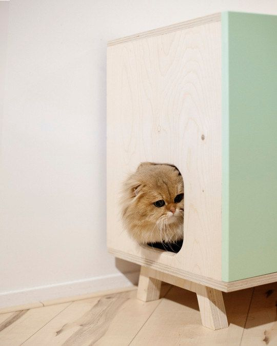 Modern cat furniture for litter box