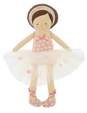 Alimrose Designs Allegra Ballerina        Price: $47.95   Beautiful Allegra Ballerina doll by Alimrose Designs!  Oh so sweet in her tutu and floral headband - destined to become a treasured favourite!    http://www.littlebooteek.com.au/Gift-Ideas/64/catlist.aspx