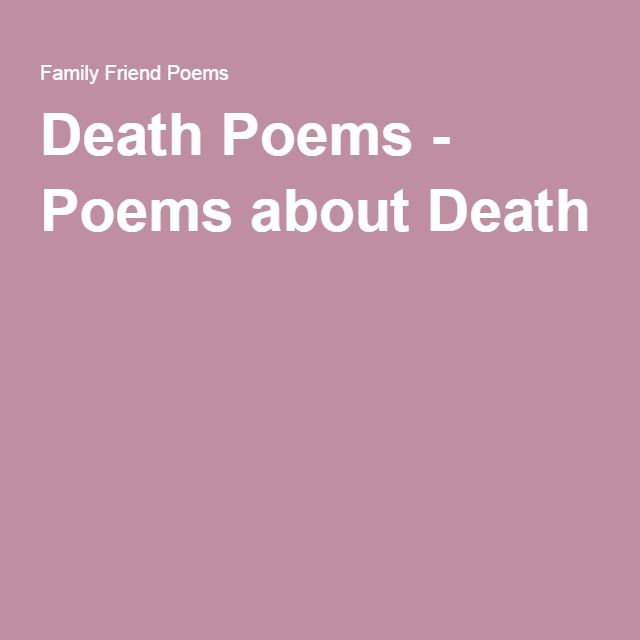 Death Poems - Poems about Death