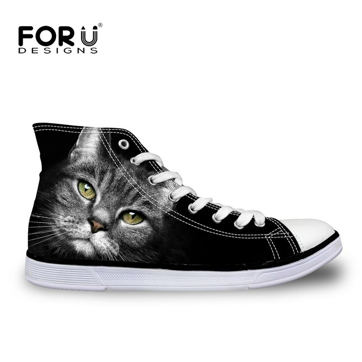 FORUDESIGNS Cat Head Canvas Shoes Women Casual Shoes Classic Platform Women Flats Walking Shoes Breathable Sapatos Femininos #>=#>=#>=#>=#> Click on the pin to check out discount price, color, size, shipping, etc. Save and like it!