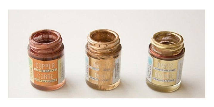 Martha Stewart's Liquid Gilding Paint in Copper, Gold and Brass I Remodelista