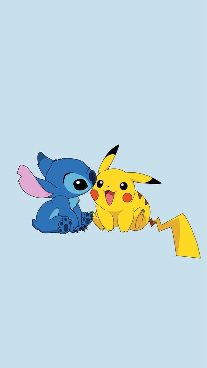 Fondos Stitch Wattpad Cute Cartoon Wallpapers Cartoon Wallpaper Iphone Stitch And Pikachu