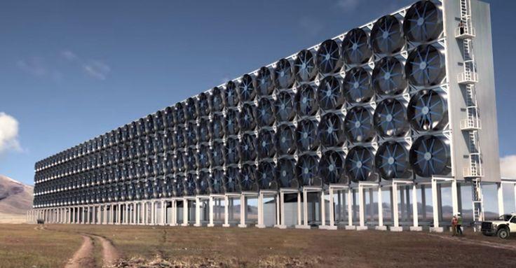 Esta pared absorbe el CO2 del aire y lo vuelve útil
