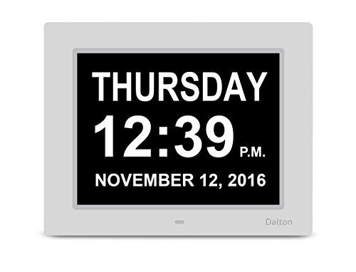 Dalton Memory Loss Digital Clock Large Digital Day Clock Calender Clocks for Elderly Alzheimers Dementia Care Digital Wall Clock Large Screen with No Abbreviations * You can get additional details at the image link.
