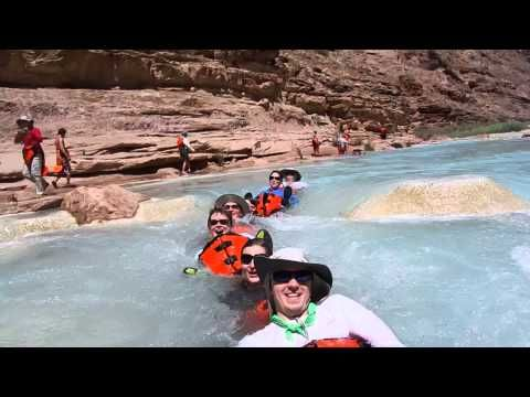 Swimming in the Little Colorado with Hatch River Expeditions