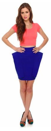 Royal blue is huge this spring. Rock it with a unique silhouette. $31 at lulus.com