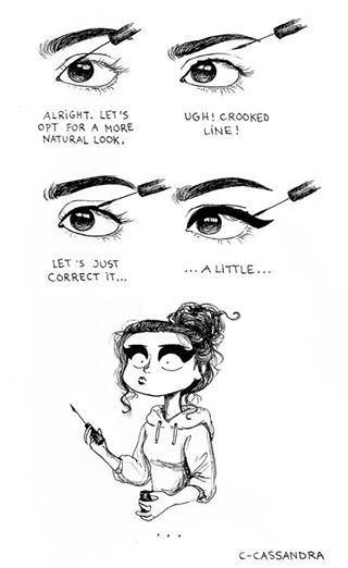 And that's how I get my perfect bold eyeliner look even when I try to go for a light eyeliner look ;)