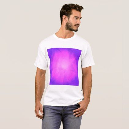 Abstract glow light purple triangle background T-Shirt - light gifts template style unique special diy