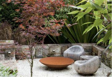 Brasero de jardin en acier corTen - Artiplant. Cuvettes de feu, foyers de jardin, ou braseros. Produits et accéssoires de haute qualité.