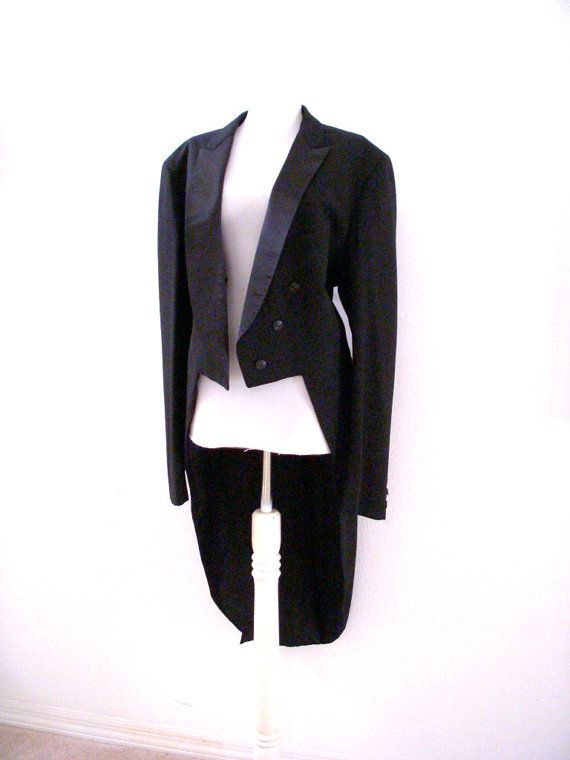 Vintage Men S Late 60s Black Tuxedo Jacket With Tails