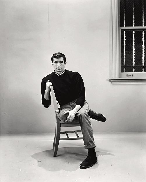 Paramount Studios still of Anthony Perkins as Norman Bates.
