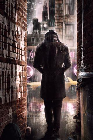 Rorschach Watchmen iPhone Wallpaper