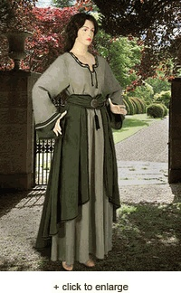 THIS ONE ... IF CAN BE SHIPPED SOON ENOUGH ... Saxon Dress - renaissance medieval dress clothing ...$163