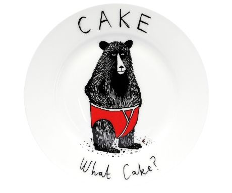 Jimbobart via www.culturelabel.com  It's refreshing to see a pair of underpants on a bear on a plate.