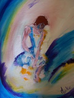A Pretty Talent Blog: Secluding A Lonely Figure In Oils