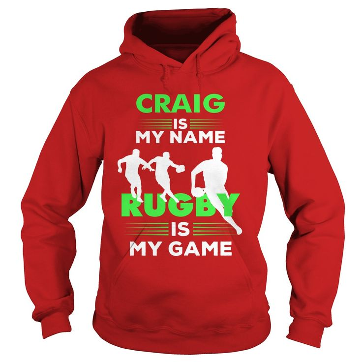 Rugby Is My Game - Craig Name Shirt #gift #ideas #Popular #Everything #Videos #Shop #Animals #pets #Architecture #Art #Cars #motorcycles #Celebrities #DIY #crafts #Design #Education #Entertainment #Food #drink #Gardening #Geek #Hair #beauty #Health #fitness #History #Holidays #events #Home decor #Humor #Illustrations #posters #Kids #parenting #Men #Outdoors #Photography #Products #Quotes #Science #nature #Sports #Tattoos #Technology #Travel #Weddings #Women
