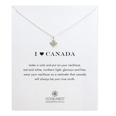 Heart Canada Maple Leaf Necklace, Sterling Silver | Dogeared
