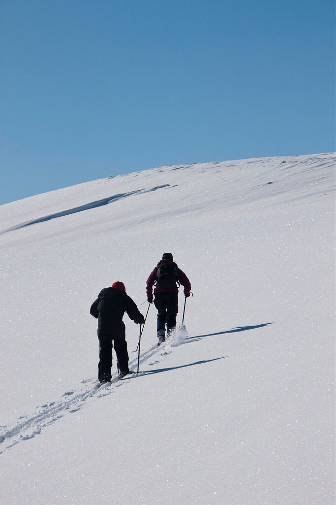 Skiing in Sulitjelma