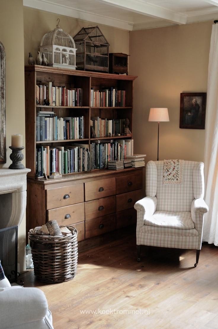 Bookcase & wingchair