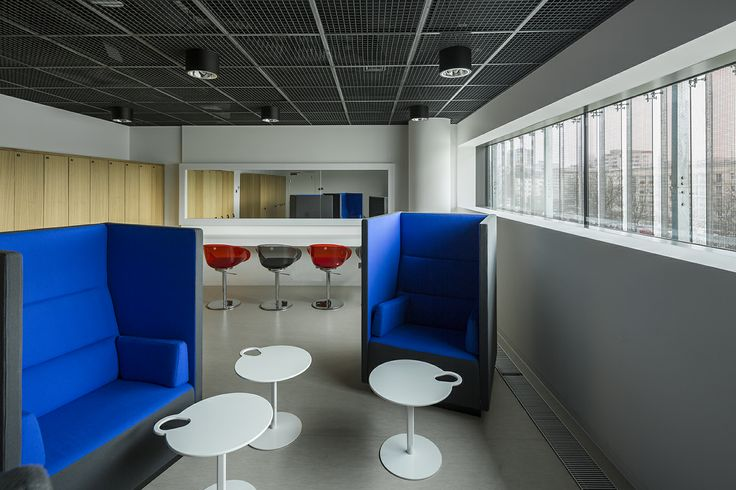 Office interiors in Museum of the History of Polish Jews, Warsaw, Poland.  Project by Grupa Plus Architekci. www.grupaplus.org #office #interiors #architecture #grupaplus