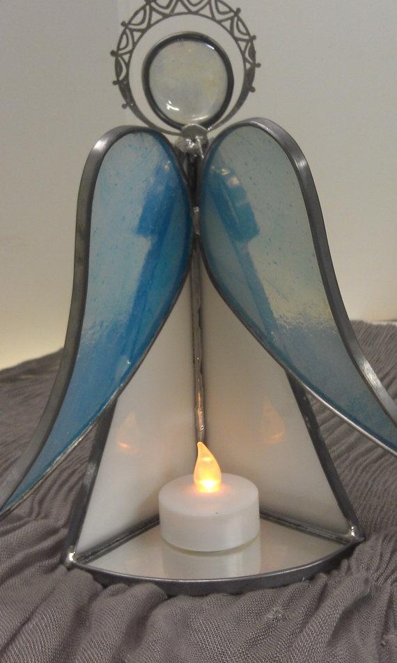 angel vitral mini candelabro