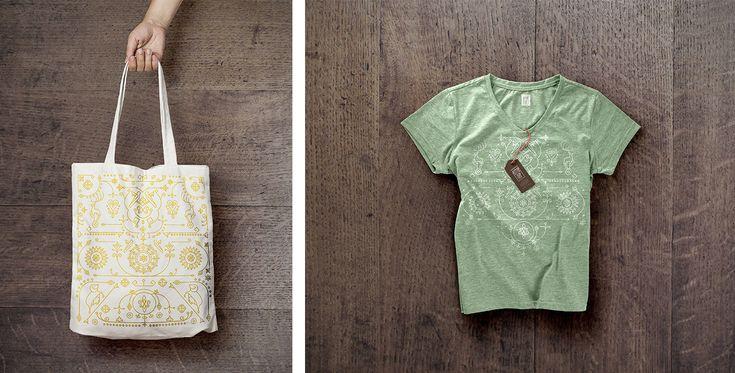 T-short design with Altai ethnic pattern • Дизайн футболки с национальными алтайскими узорами    by Mariia Filonenko on Behance