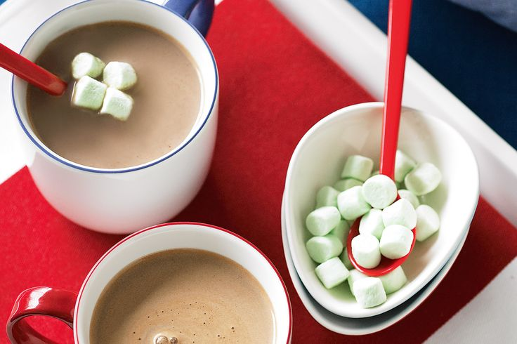 Choc-mint hot chocolate #stpatricksday #green http://www.taste.com.au/recipes/19715/choc+mint+hot+chocolate