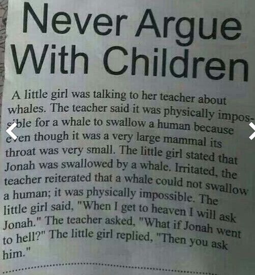Don't argue with this kids . lol!!! OHHHHHHHHHHH!!!!!!!! she just got burned
