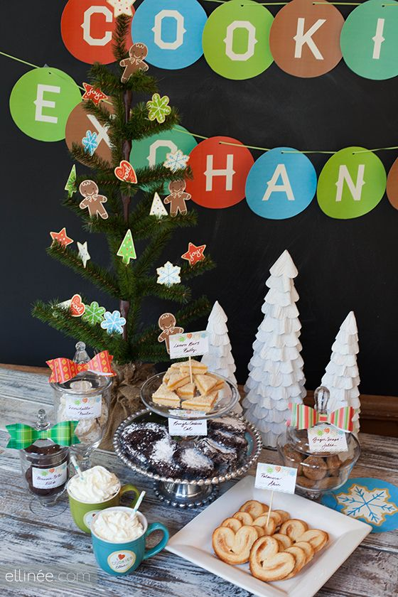 Cookie Exchange Party printables.