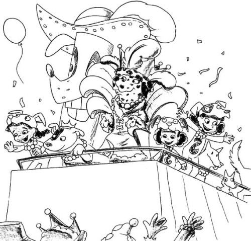 party mardi gras coloring pages