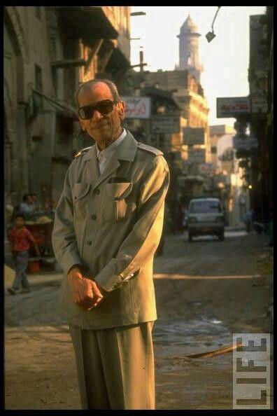 A very beautiful photo of Naguib Mahfouz