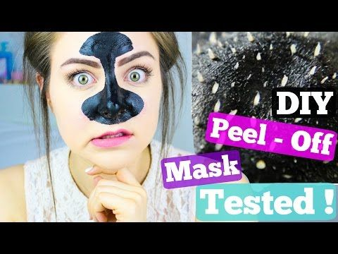 Easy DIY Blackhead Remover Peel Off Mask REMOVES EVERYTHING | BeautyByJosieK - YouTube  Activated Charcoal, Elmer's Glue and nice smelling essential Oil.