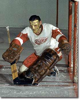 Terry Sawchuk adopted the mask during the 1962-63 season, but not before the scars of more than 350 stitches crisscrossed his face.
