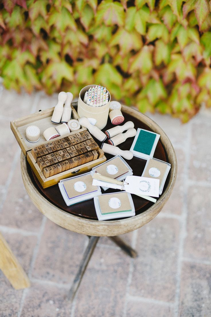Scrapbook guest book ideas - Stamps For Your Guest To Use In Your Guestbook