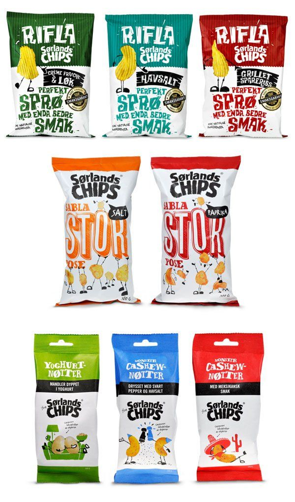 Crunchy Time: 30+ Appetizing Examples of Chips Packaging Designs
