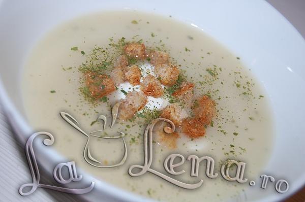 Supa crema cu telina si conopida