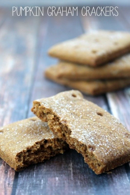 Pumpkin Graham Crackers | White Lights on Wednesday - scroll past other ideas for recipe and Yum!