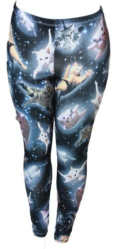 Space Kitten Ladies Leggings - Small Space Kitten http://smile.amazon.com/dp/B00DQXRU88/ref=cm_sw_r_pi_dp_7ACPub05BRJPM