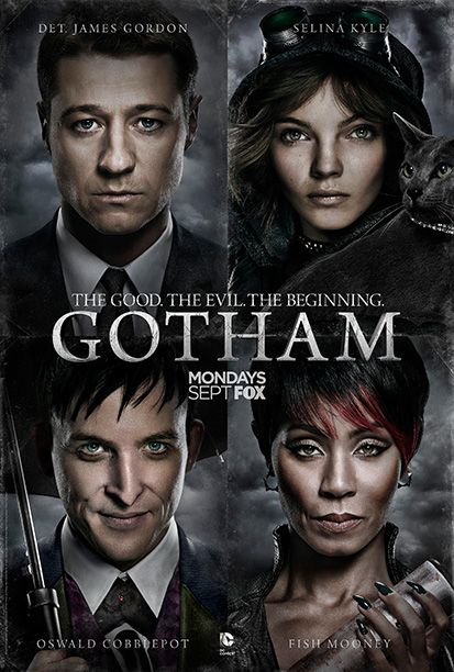Here are four of Gotham 's multitude of character posters that are typically advertised as separate one-sheets. Fox's team smartly avoided two big pitfalls: They