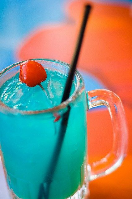 The Blue Hawaiian | Here is a comprehensive list of the best beach drinks to order at all-inclusive resorts (with drink recipes!)