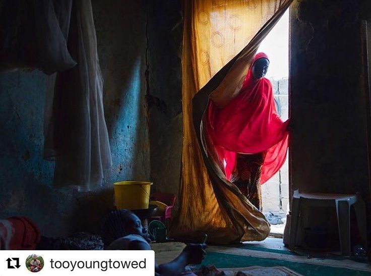 """#Repost @tooyoungtowed (@get_repost)  Hussaina 14 visits her sister Aisha 17. Five girls from their family were abducted by Boko Haram. Hussaina who was abducted at the age of 11 said she decided to escape with one of her sisters after hearing talk of their impending marriages. """"Any time the insurgents suspected we were planning an escape they would refuse us food said Hussaina. """"They wanted us to be weak so we could not attempt to escape. Too Young to Wed is proud to announce the release of…"""