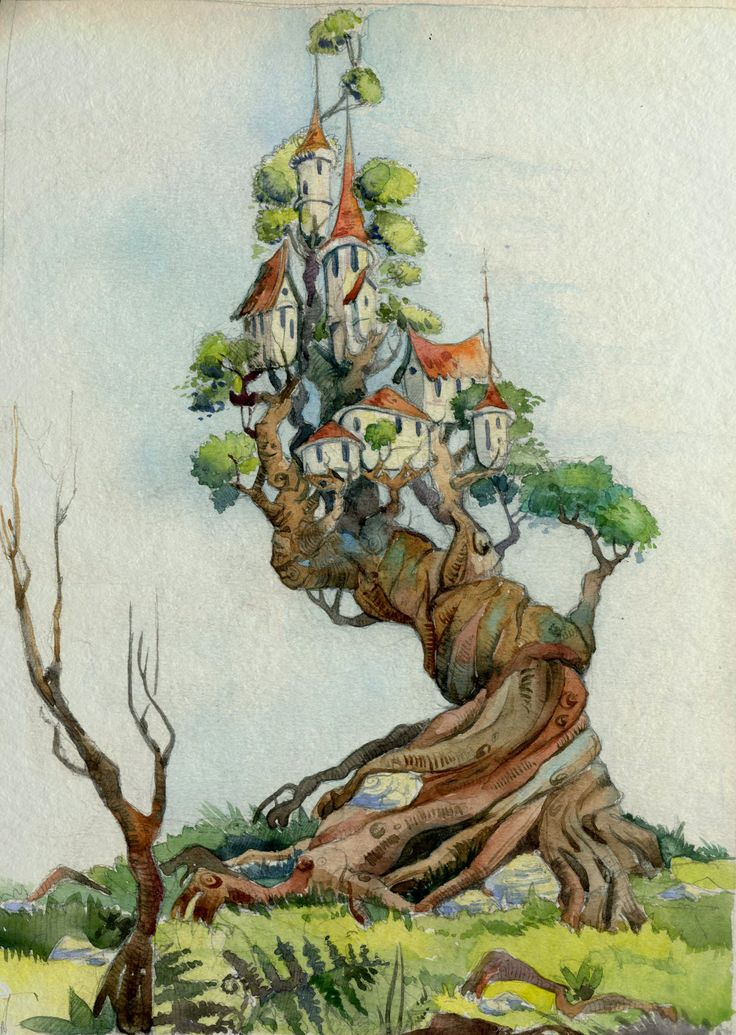 Сказочное дерево, нарисованное для души.