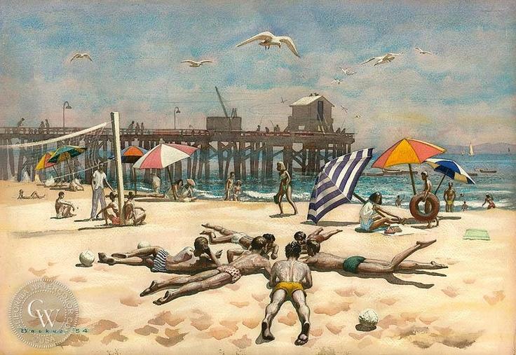 Goleta Beach, 1954     by Standish Backus Jr.