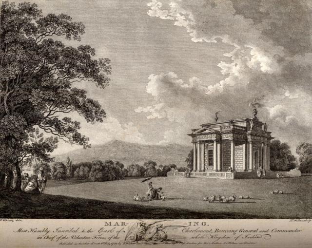 Casino at Marino. Engraving: J. Warburton, J. Whitelaw, Robert Wash, 'History of the City of Dublin' (1818)