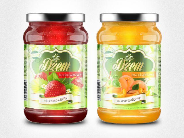 Etykiety na dżemy owocowe
