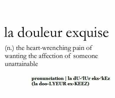 A word to describe everything YOU made me feel