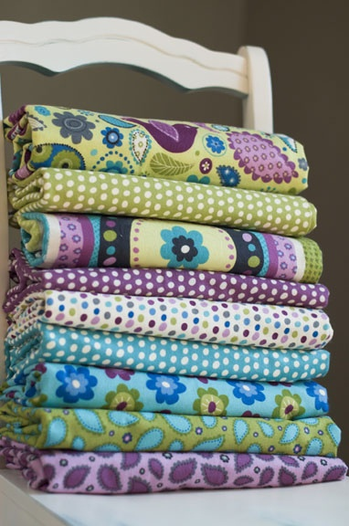 Pretty Paisley flannel by Leslie Grainger